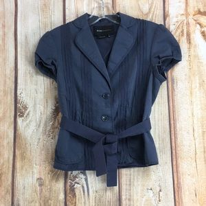 💸BCBG MaxAzria Short Sleeve Belted Top size XS